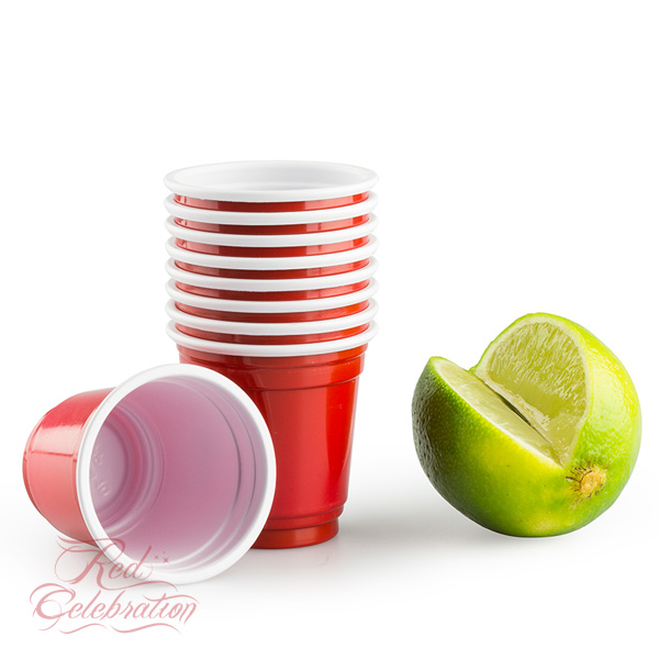 20 american red shot cups