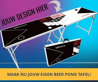 Beer pong tafel met jouw eigen design maken