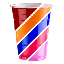 American PartyMix - per 100 cups - Mix zelf Red, Blue, Pink, Black, Gold & Orange